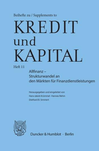 Cover: Allfinanz – Strukturwandel an den Märkten für Finanzdienstleistungen