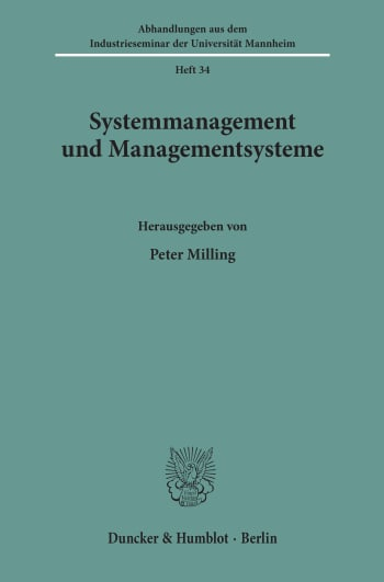 Cover: Systemmanagement und Managementsysteme