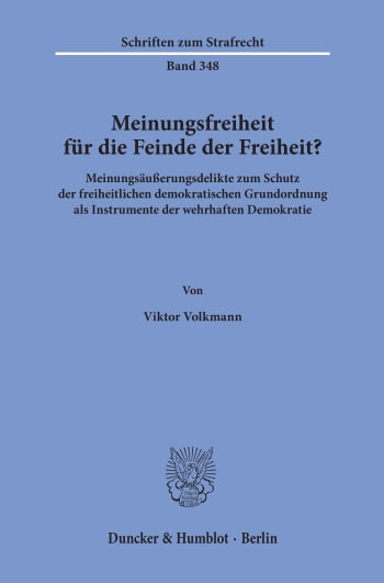 Cover: Meinungsfreiheit für die Feinde der Freiheit?
