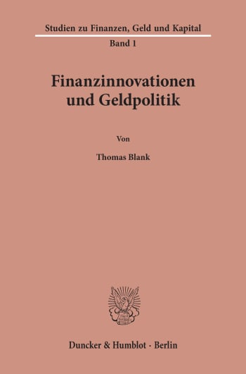 Cover: Finanzinnovationen und Geldpolitik