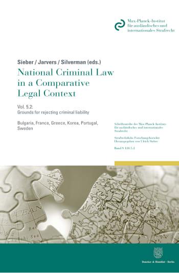 Cover: Schriftenreihe des Max-Planck-Instituts für ausländisches und internationales Strafrecht. Reihe S: Strafrechtliche Forschungsberichte (MPIS)