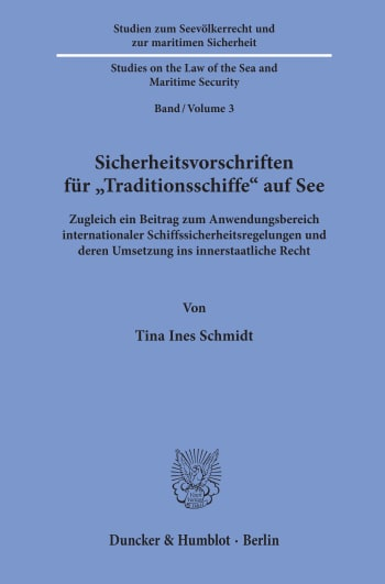 Cover: Studien zum Seevölkerrecht und zur maritimen Sicherheit / Studies on the Law of the Sea and Maritime Security (SSMS)