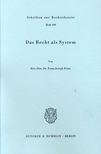 Cover: Das Recht als System