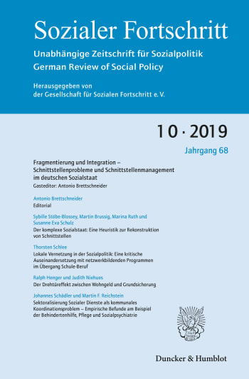 Cover: Fragmentierung und Integration – Schnittstellenprobleme und Schnittstellenmanagement im deutschen Sozialstaat