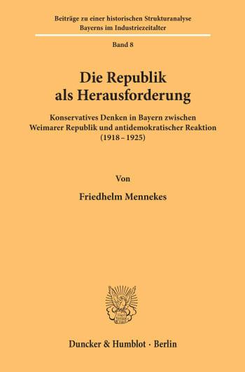 Cover: Die Republik als Herausforderung