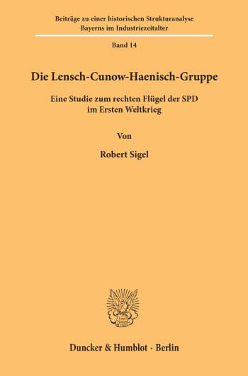 Cover: Die Lensch-Cunow-Haenisch-Gruppe