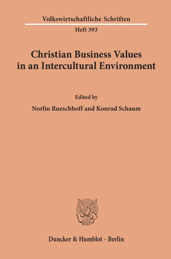 Cover: Christian Business Values in an Intercultural Environment