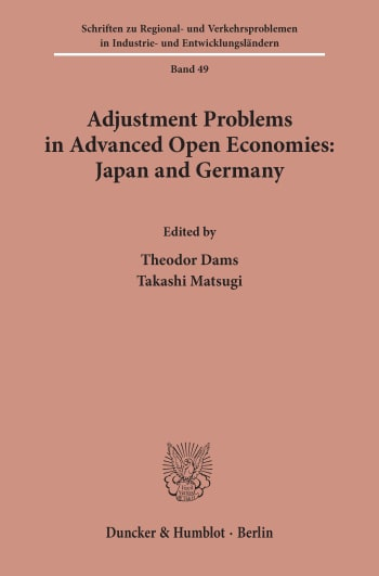 Cover: Adjustment Problems in Advanced Open Economies: Japan and Germany