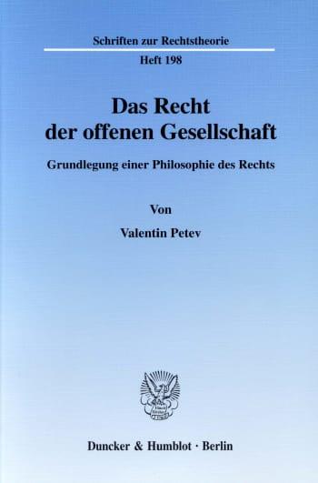 Cover: Das Recht der offenen Gesellschaft