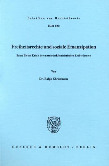 Cover: Freiheitsrechte und soziale Emanzipation