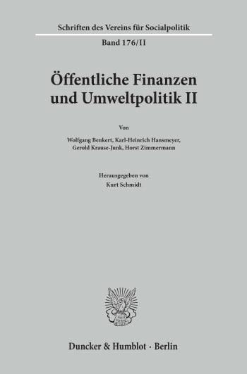 Cover: Öffentliche Finanzen und Umweltpolitik II