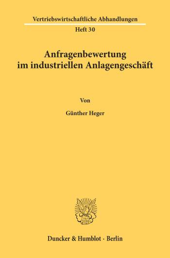 Cover: Anfragenbewertung im industriellen Anlagengeschäft