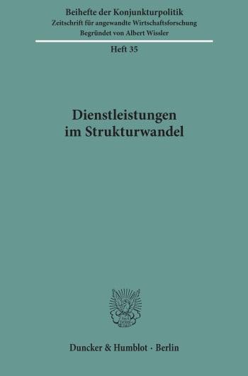 Cover: Dienstleistungen im Strukturwandel