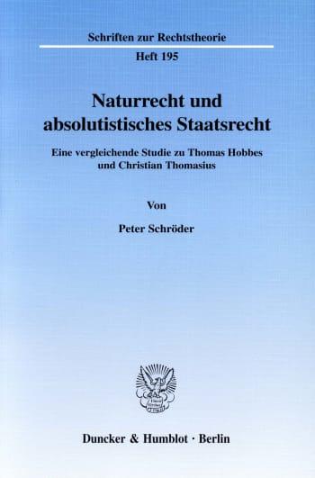 Cover: Naturrecht und absolutistisches Staatsrecht