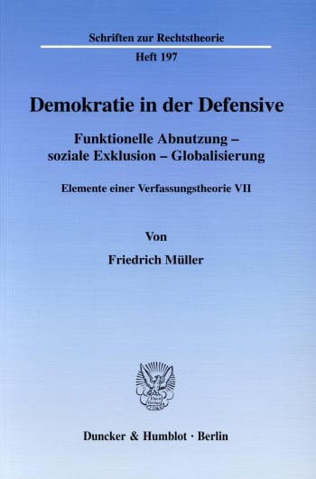 Cover: Demokratie in der Defensive
