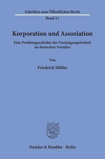 Cover: Korporation und Assoziation