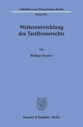 Cover: Weiterentwicklung des Tariftreuerechts