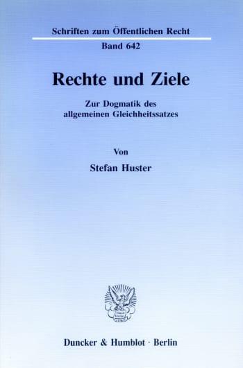 Cover: Rechte und Ziele