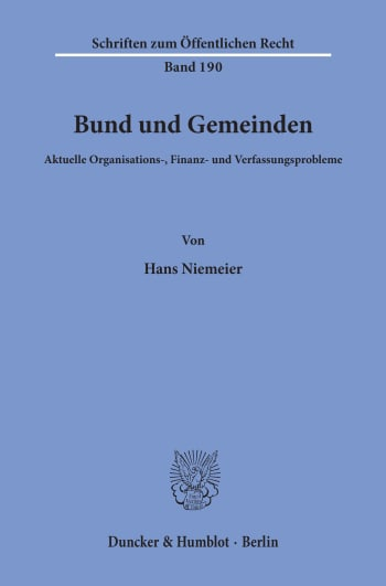 Cover: Bund und Gemeinden