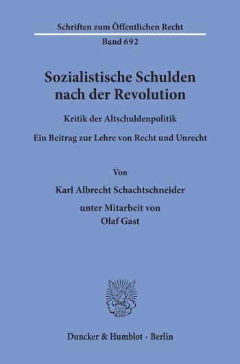 Cover: Sozialistische Schulden nach der Revolution