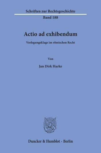 Cover: Actio ad exhibendum