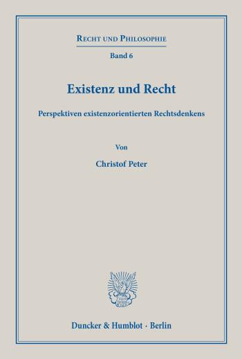 Cover: Existenz und Recht
