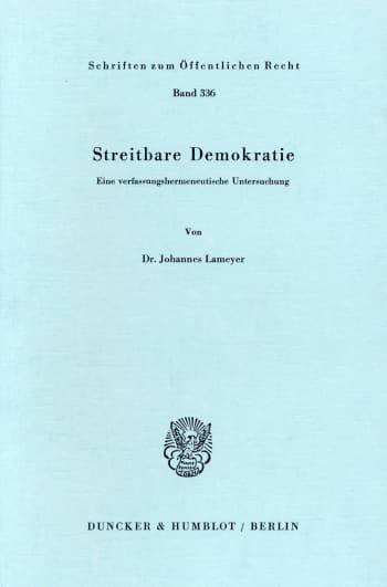 Cover: Streitbare Demokratie