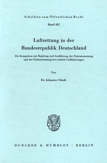 Cover: Luftrettung in der Bundesrepublik Deutschland