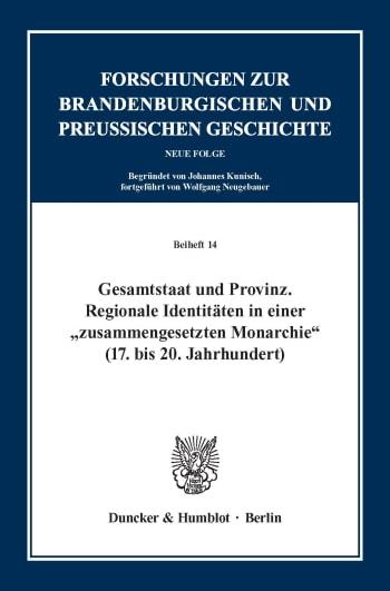 Cover: Gesamtstaat und Provinz