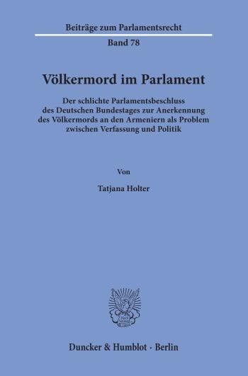 Cover: Beiträge zum Parlamentsrecht (BPR)