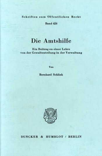 Cover: Die Amtshilfe