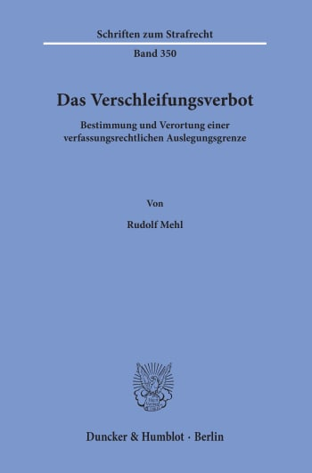 Cover: Das Verschleifungsverbot