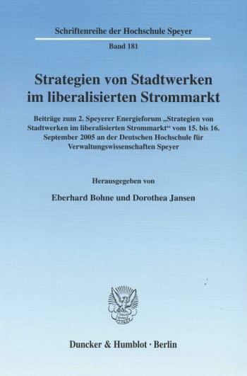 Cover: Strategien von Stadtwerken im liberalisierten Strommarkt