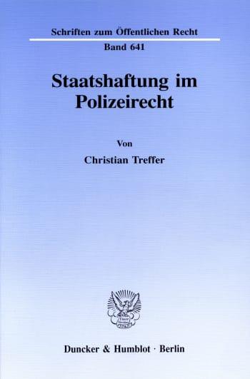 Cover: Staatshaftung im Polizeirecht
