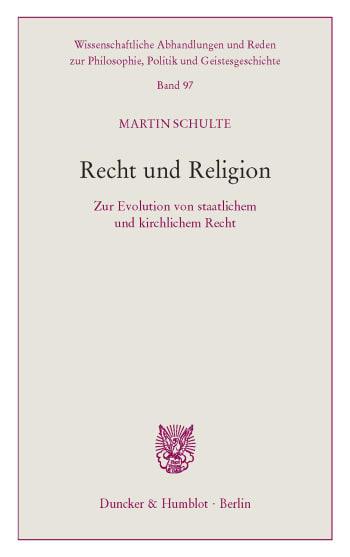 Cover: Recht und Religion