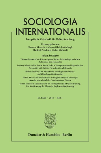 Cover: Sociologia Internationalis (SOCINT)