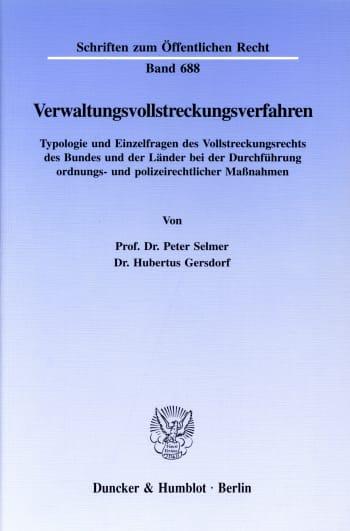 Cover: Verwaltungsvollstreckungsverfahren