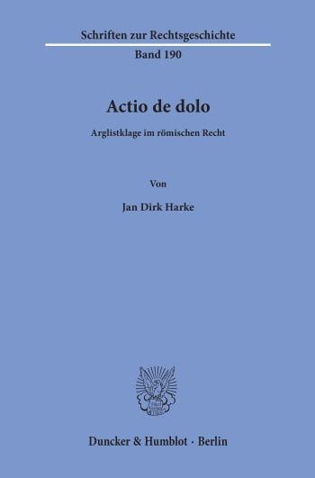 Cover: Actio de dolo