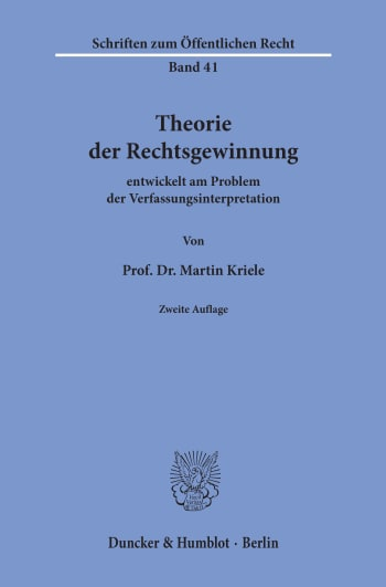 Cover: Theorie der Rechtsgewinnung