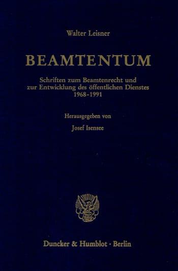 Cover: Beamtentum