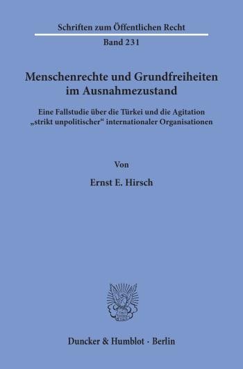 Cover: Menschenrechte und Grundfreiheiten im Ausnahmezustand
