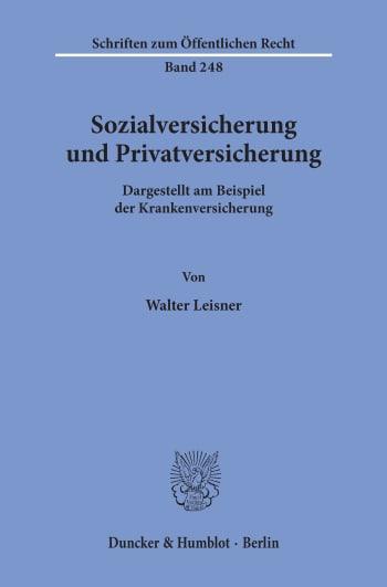 Cover: Sozialversicherung und Privatversicherung