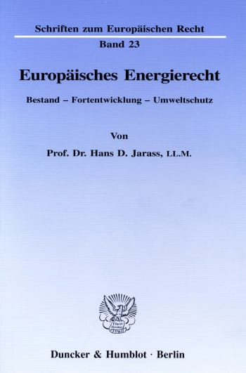 Cover: Europäisches Energierecht