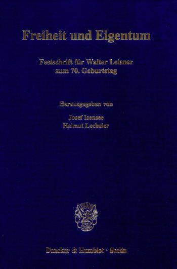 Cover: Freiheit und Eigentum