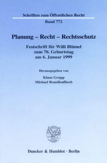 Cover: Planung - Recht - Rechtsschutz