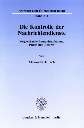 Cover: Die Kontrolle der Nachrichtendienste