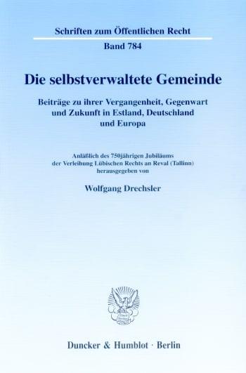 Cover: Die selbstverwaltete Gemeinde