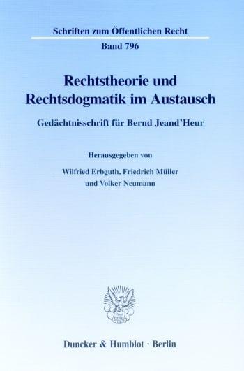 Cover: Rechtstheorie und Rechtsdogmatik im Austausch