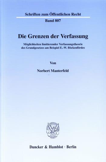 Cover: Die Grenzen der Verfassung