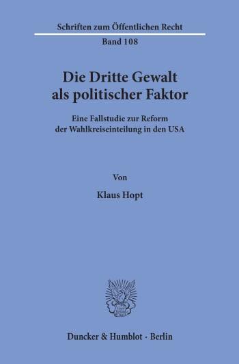 Cover: Die Dritte Gewalt als politischer Faktor